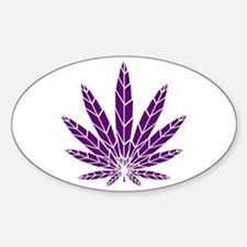 Purple Leaf Decal