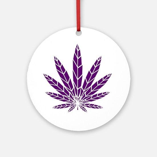 Purple Leaf Ornament (Round)