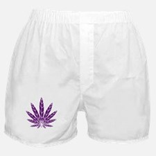 Purple Leaf Boxer Shorts