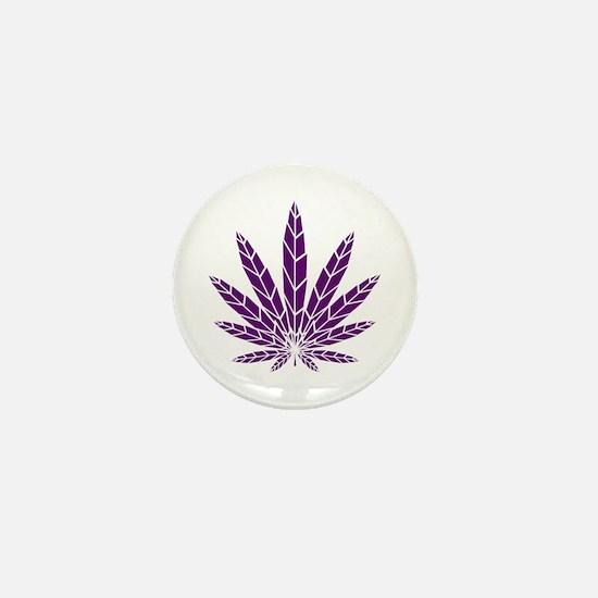 Purple Leaf Mini Button (10 pack)