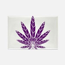 Purple Leaf Rectangle Magnet
