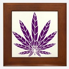 Purple Leaf Framed Tile