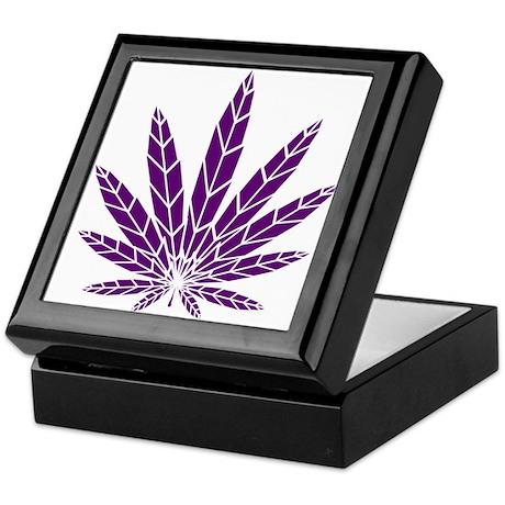 Purple Leaf Keepsake Box