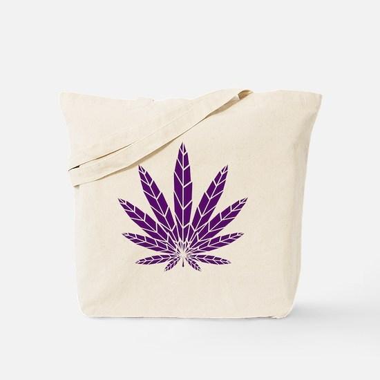 Purple Leaf Tote Bag