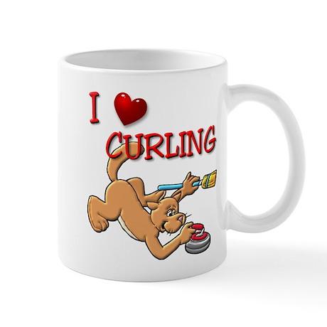Curling Dog Mug