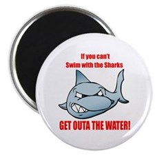 "Get outa the water! 2.25"" Magnet (10 pack)"