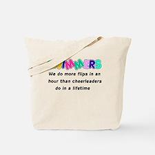 Swimmers & Cheerleaders Tote Bag