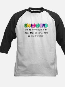 Swimmers & Cheerleaders Kids Baseball Jersey