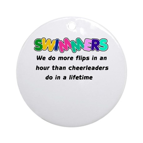 Swimmers & Cheerleaders Ornament (Round)