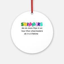Swimmers & Cheerleaders Ornament (Round)