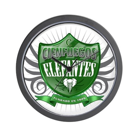 Cienfuegos Elefants Shield Wall Clock