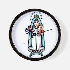 Virgen de la Caridad Wall Clock