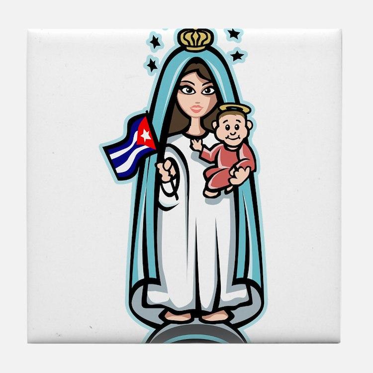 Virgen de la Caridad Tile Coaster