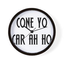 Coño Carajo Wall Clock