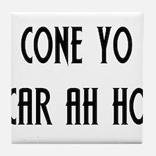 Coño Carajo Tile Coaster
