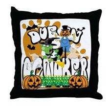 Due in October Throw Pillow