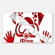 iDive Dive Flag Original Sticker (Rectangle)