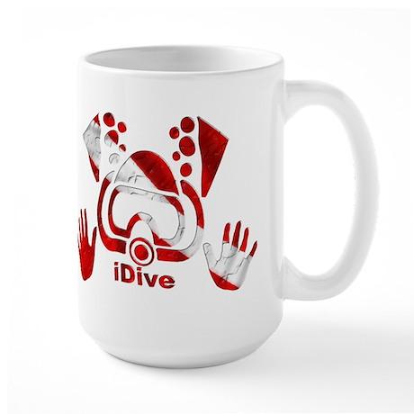 iDive Dive Flag Original Large Mug