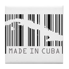 Made in Cuba Barcode Tile Coaster