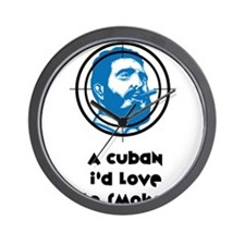 A Cuban I'd love to smoke! Wall Clock