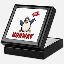 Norway Penguin Keepsake Box