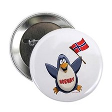 """Norway Penguin 2.25"""" Button (10 pack)"""