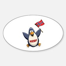 Norway Penguin Sticker (Oval)