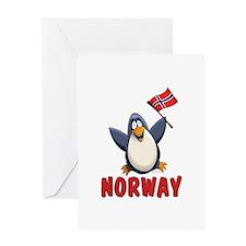 Norway Penguin Greeting Card