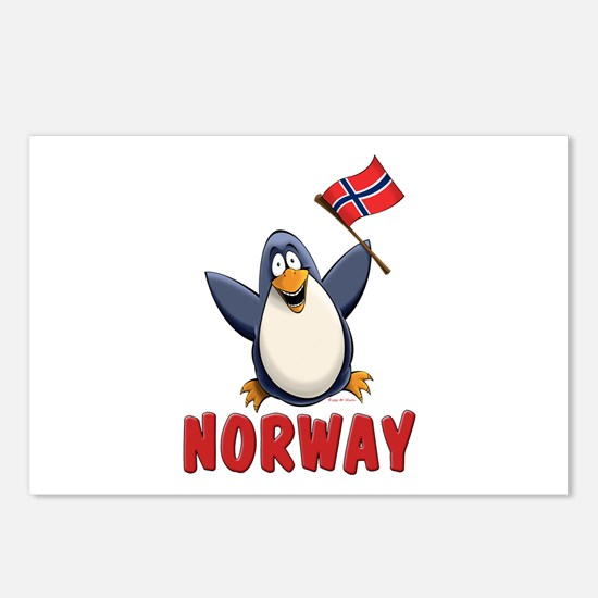 Norway Penguin Postcards (Package of 8)