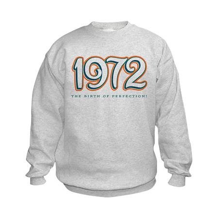 1972 The birth of Perfection Kids Sweatshirt