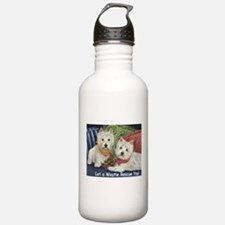 WESTIE LET A WESTIE RESCUE YOU! Water Bottle