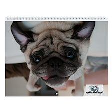 UpsideDownDogs Featured Dogs Wall Calendar
