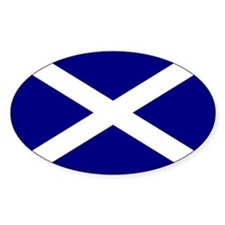 Scottish Flag Oval Bumper Stickers