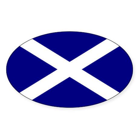 Scottish Flag Oval Sticker