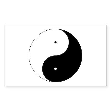 Daoism Yin & Yang Sticker (Rectangle 50 pk)