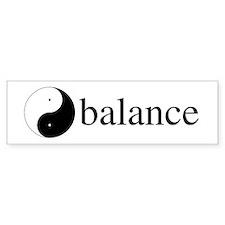 Daoism Yin & Yang Bumper Sticker