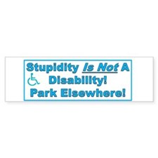 Disability Blue Bumper Sticker