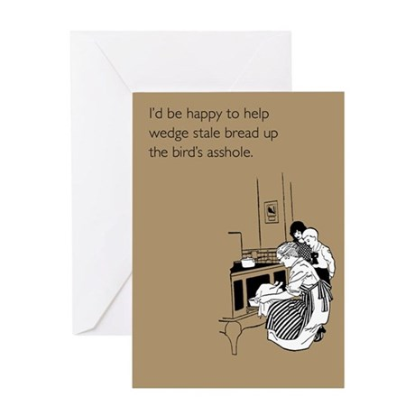 Stuff Bird's Asshole Greeting Card