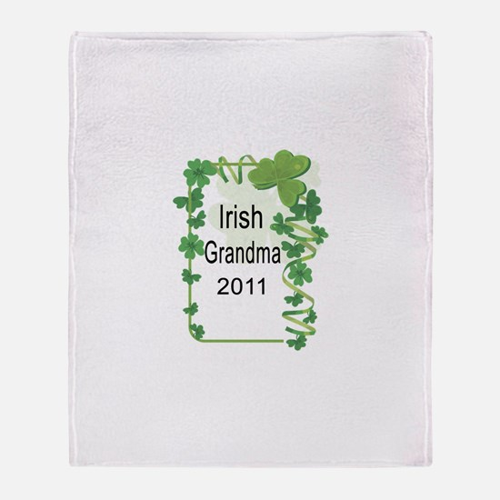 IRISH GRANDMA 2011 Throw Blanket