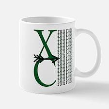 XC Run Dark Green White Mug