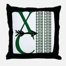 XC Run Dark Green White Throw Pillow
