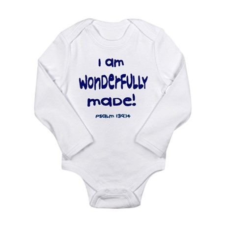 Pslam 139:14 Long Sleeve Infant Onesie (4 colors)