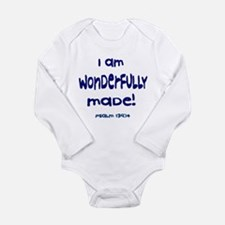 Pslam 139:14 Long Sleeve Infant Onesie (4 colors)
