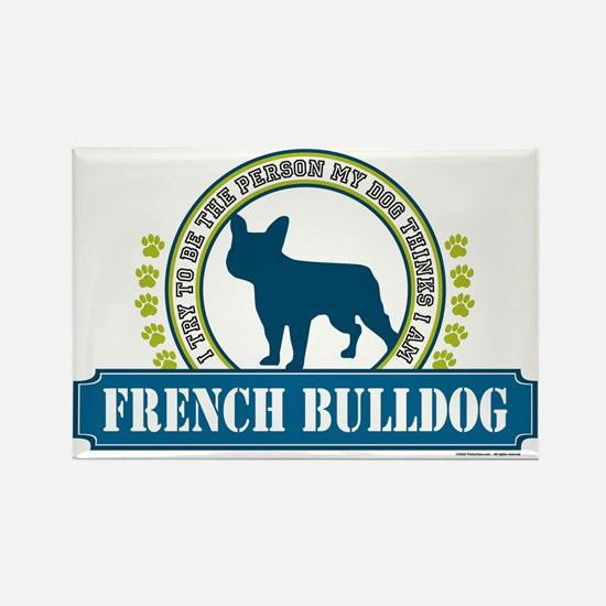 French Bulldog Rectangle Magnet (10 pack)