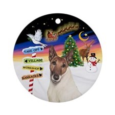 Smooth Fox Terrier (brn-Wht) Ornament (round)