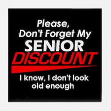 Senior Discount Tile Coaster