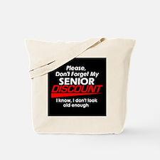 Senior Discount Tote Bag