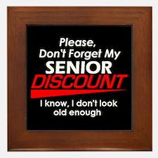 Senior Discount Framed Tile