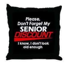 Senior Discount Throw Pillow