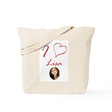I Love Lisa Tote Bag